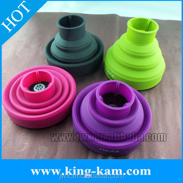custom silicone folding hair dryer diffuser Mini Hair Dryer With Diffuser wind spin magic hair curl diffuser