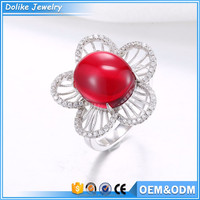 Genuine silver rings,mexican 925 silver and gemstone jewelry