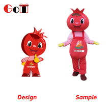Hot Sale Soft Plush Fruit Doll Style Cartoon Mascot Adult Costume