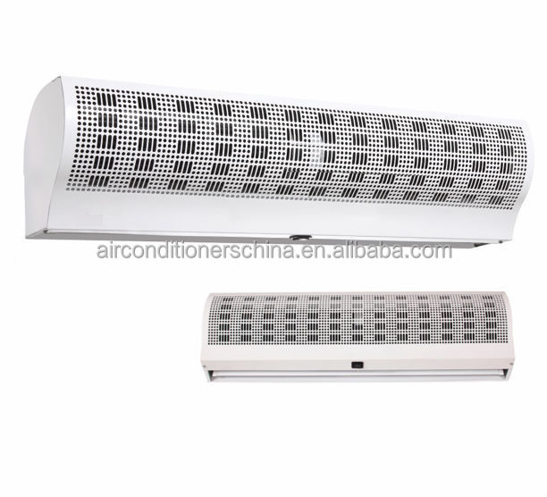 Water heating air curtain air door