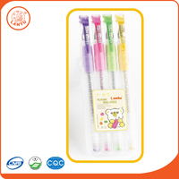 Lantu Cheap Promotion Smooth Writing Glitter Gel Pen For Stationery For Stationery