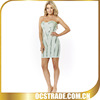 2014 strapless bandage cyan sequined fashion teenage cocktail dress