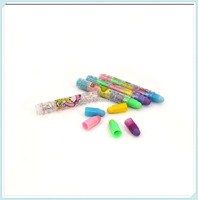 Hot sale rainbow five section promotional eraser pen for kids toys games promotional gifts eraser
