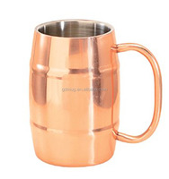 500ml double walled insulated Solid Copper Barrel Moscow Mule Mug