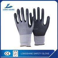 Nitrile chemical resistant work safety gloves top quality