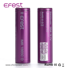 Newest IMR 2900mah Efest Lithium Battery Fst 18650 Battery for Power Electronic