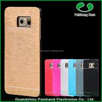 Hot Selling Mobile Phone Cases TPU PC Aluminum Hard Brushed Metal Cell Phone Case Cover For Samsung Galaxy S6 / S6 Edge