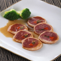 Frozen Steamed Duck Breast Meat and Vegetable Roll