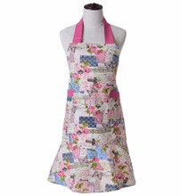garden cotton canvas kitchen cooking apron set with pockets