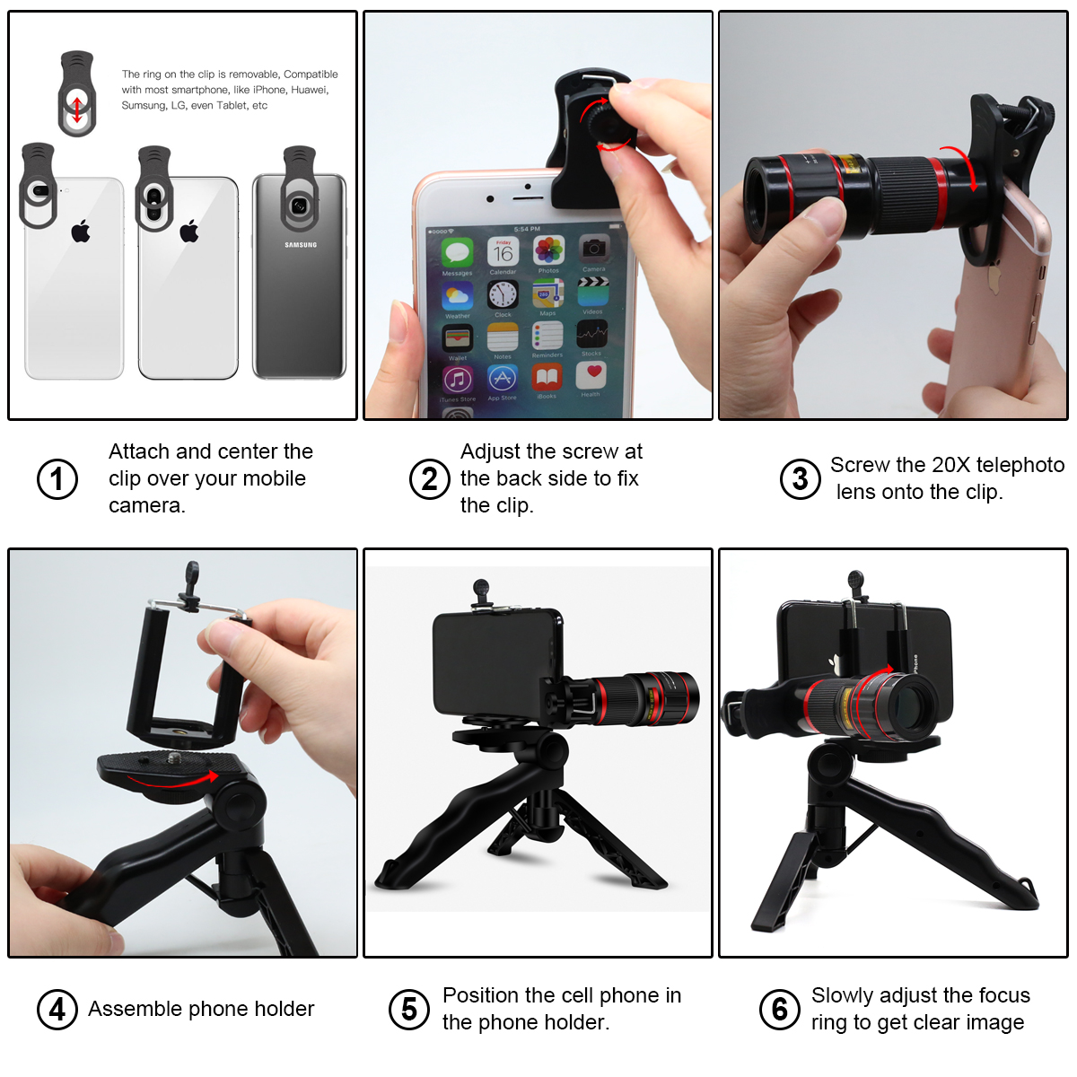 New product ideas 2018 best 20x zoom mobile phone telescope camera lens lens for iphone