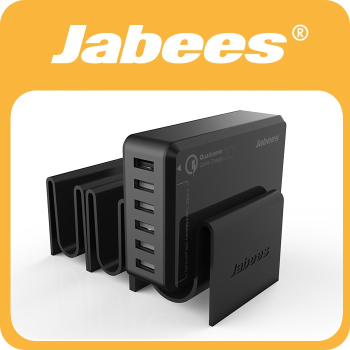 Jabees Multi USB Charger Charging Dock Stand Station with USB Charging Cable