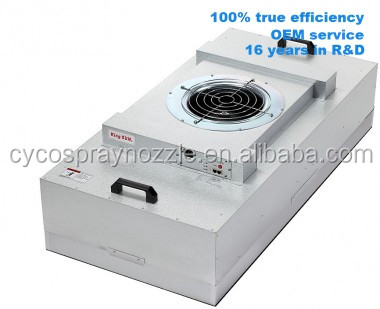 CE,UL passed Ultra thin fan filter unit box with hepa filter exhaust fan