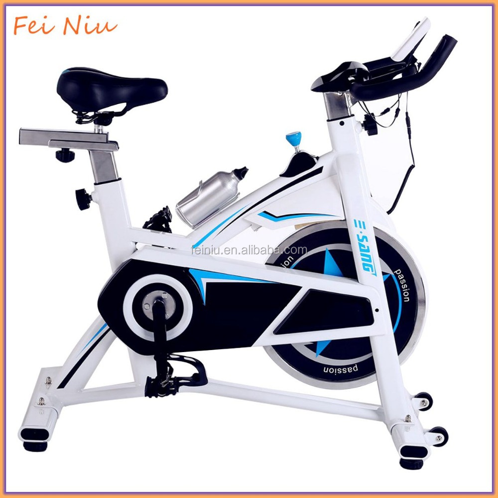 Upright Indoor Exercise Bike Stationary Cycling Cardio Workout LCD Monitor