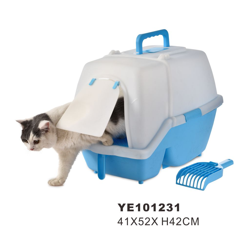 Wholesale good quality plastic automatic cat litter box,hooded cat litter box