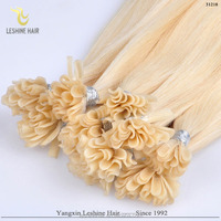 YBY Russia hair 100% human hair keratin i tip/u tip/v tip remy stick tip hair extensions