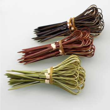 Eco friendly Biodegradable Cocktail Knot Picks Bamboo Skewers
