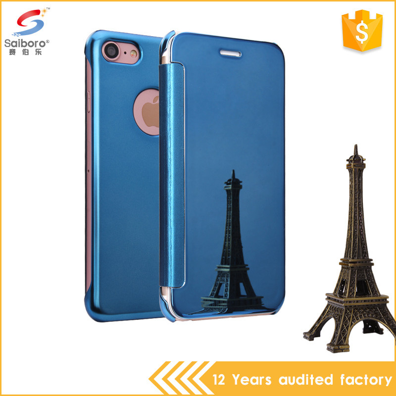 Latest Design Hot Sale Anti-Scratch Plating PC+ Leather Case Cover For Iphone 6