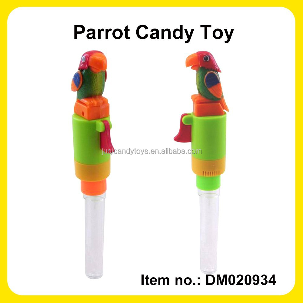 Bird Chirping Parrot Toy Candy Tube Can Fill With Import Candy For Candy Manufactory