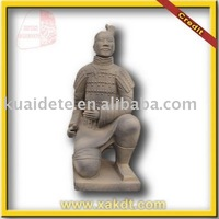Chinese Clay Warrior Replica Kneeling Archer Statue BMY1032