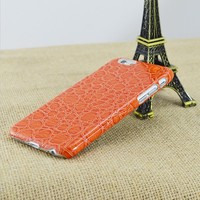For Apple iPhone 5/5s Crocodile Lines Plastic Hard Skin Mobile Phone Case Cover
