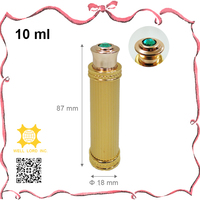 Modish aluminum golden perfume container 10ml essential oil bottle