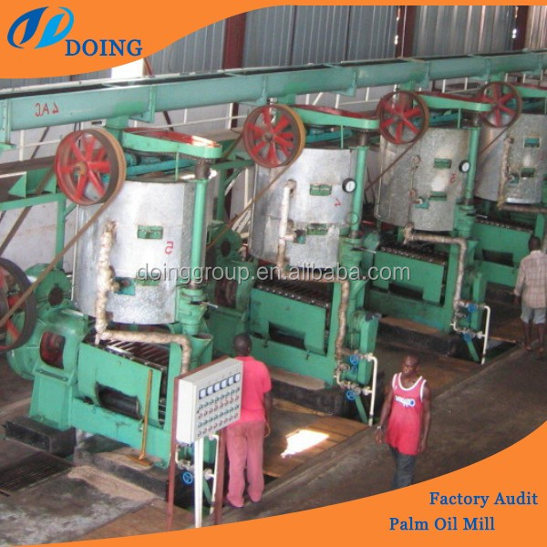 High efficiency and Lower residual oil rate oil palm processing machinery, palm oil expeller, palm oil mill