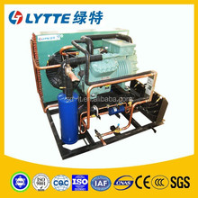 JZSB Semi-hermetic Two-stage Compression Condensing Units Bitzer Refrigerant Compressor Air Cooled Condensing Unit for Cold Room