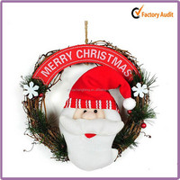 Butterfly yiwu 2015 New Product Fiber Optic Wholesale Christmas Wreath Decorations