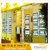 Double Sided Real Estate Agent Window LED Display Magnetic Hanging Backlit Transparent Film Light Box