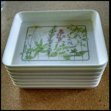Serving trays beautiful flower design hard plastic serving tray,custom plastic serving trays manufacturer