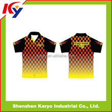 Custom Professional Sublimation Racing Jersey/race Pit Crew Shirts