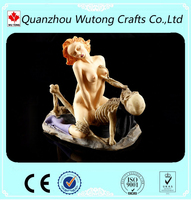 Make Love Resin Skeleton Figure with Woman Resin Sex Figurine