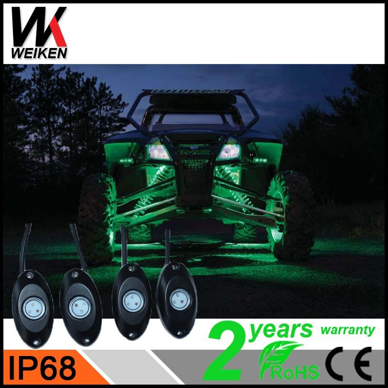 Car accessories waterproof ip68 8 Pods Wireless Music Mini Bluetooth LED Rock Light for 4x4 offroad