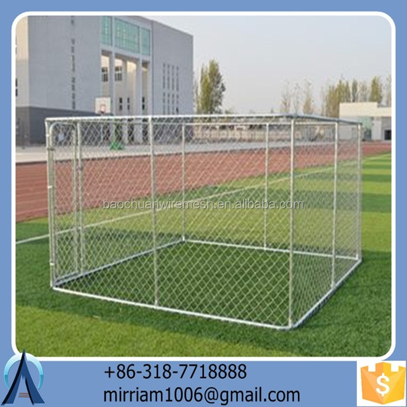 2015 hot sale low price eco-friendly and stocked galvanized safe outdoor dog cages/dog kennels