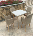 PE Rattan Outdoor Furniture Garden Classical Dining table and Chairs