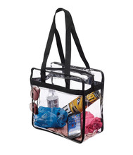 Sturdy Clear PVC Shoulder Bag Travel Gym Tote Bag