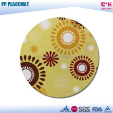custom printed round pp Christmas plastic placemat for round table
