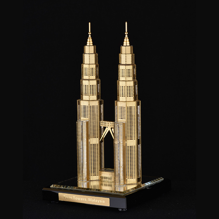 New product ideas 2018 twin towers crystal famous Model building trophy columns