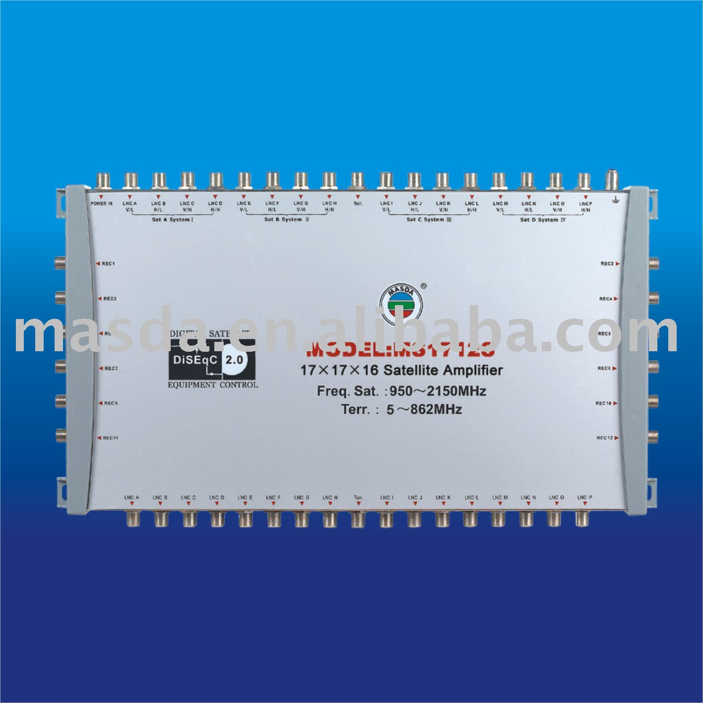 17-in-12-out Satellite Multiswitch