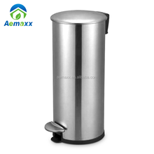 Modern Stainless Steel Trash Can - Step Trash and Recycling Bin For Kitchen, Bathroom, and Office