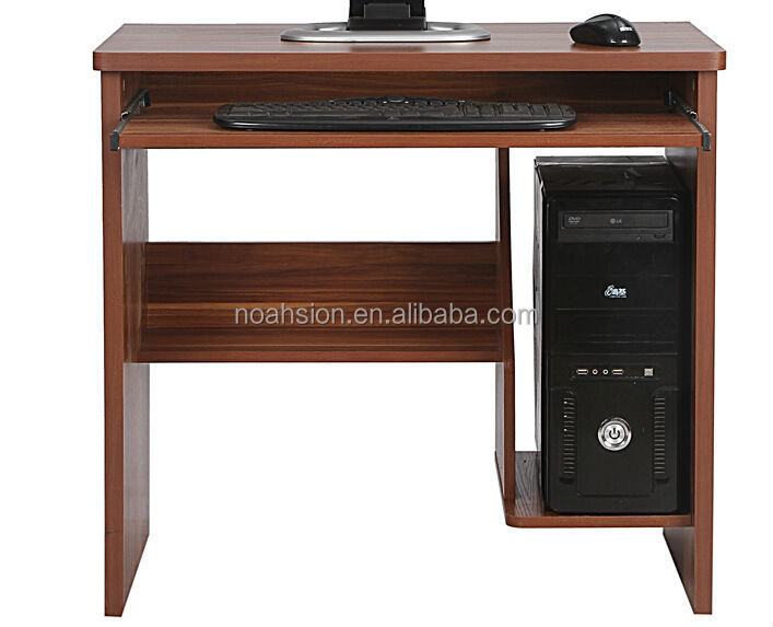 2015 latest melamine chipboard KD design Wooden computer table ...