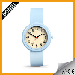 Cheap hot OEM/ODM promotional custom cute logo high quality top silicone strap kid's watch