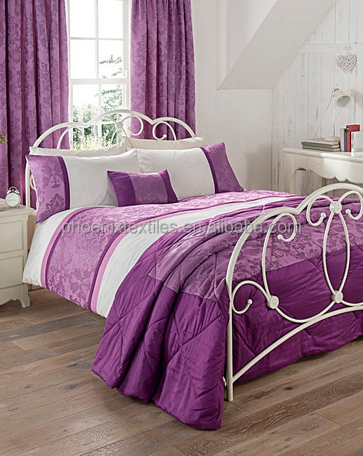 latest design purple quilt comforter sets