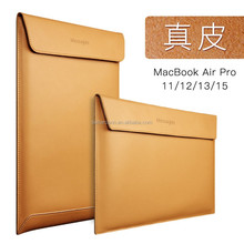 "Premium Real Ultrathin Genuine Leather Envelope Sleeve Bag Case Cover Pouch for MacBook Air 11"" 12"" 13"" 15"" Pro Retina"