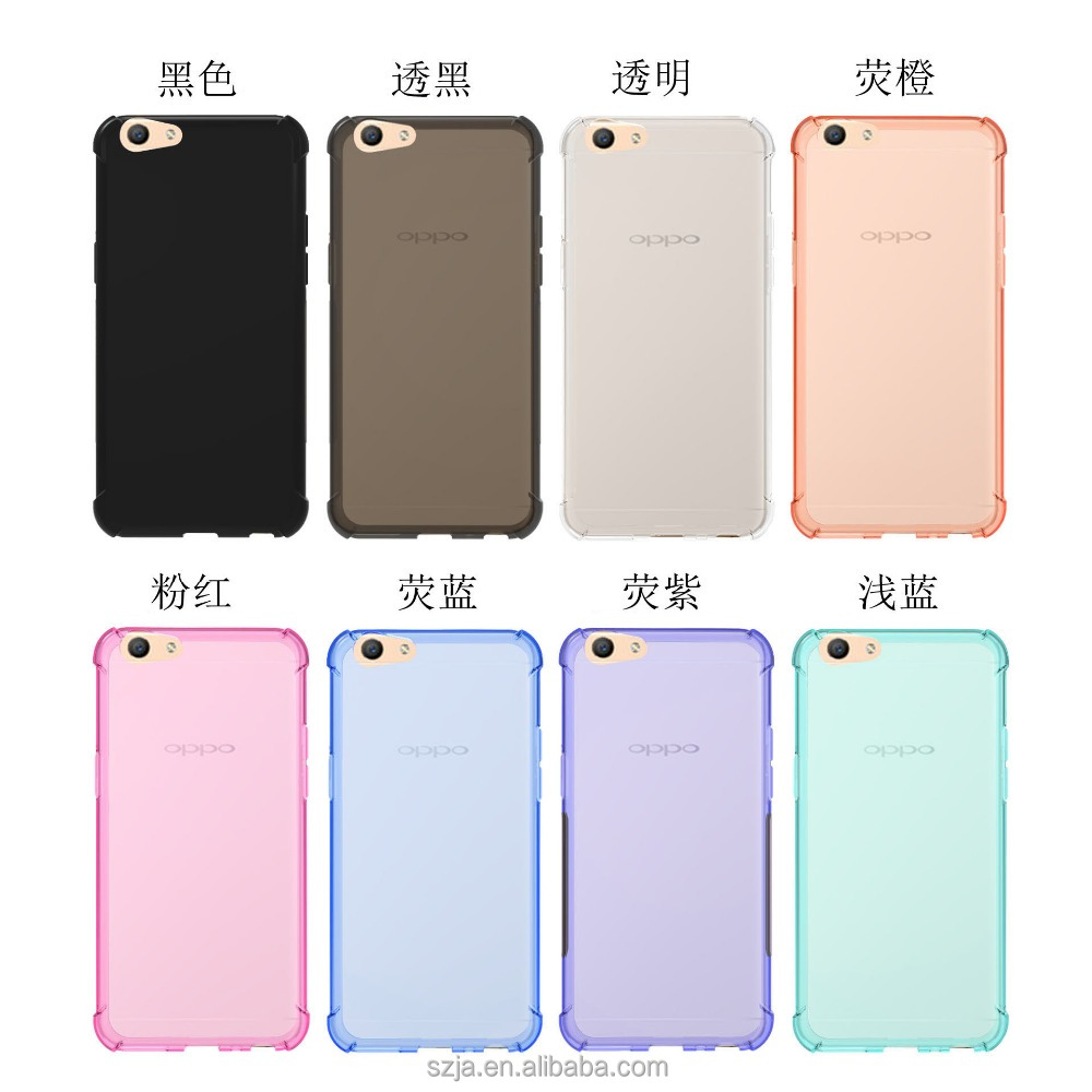 Anti-drop TPU soft case for OPPO A39 Candy color silicone Corners protection case for OPPO A39