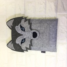 dog face Handle felt Laptop Sleeve Pouch Cover Bag for iPad 2 3 4 iPad