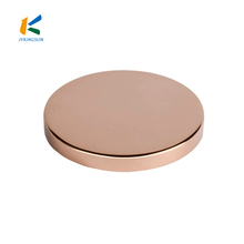 Elliptical Round Cap/ Customized Silver Golden Copper Candle Lid