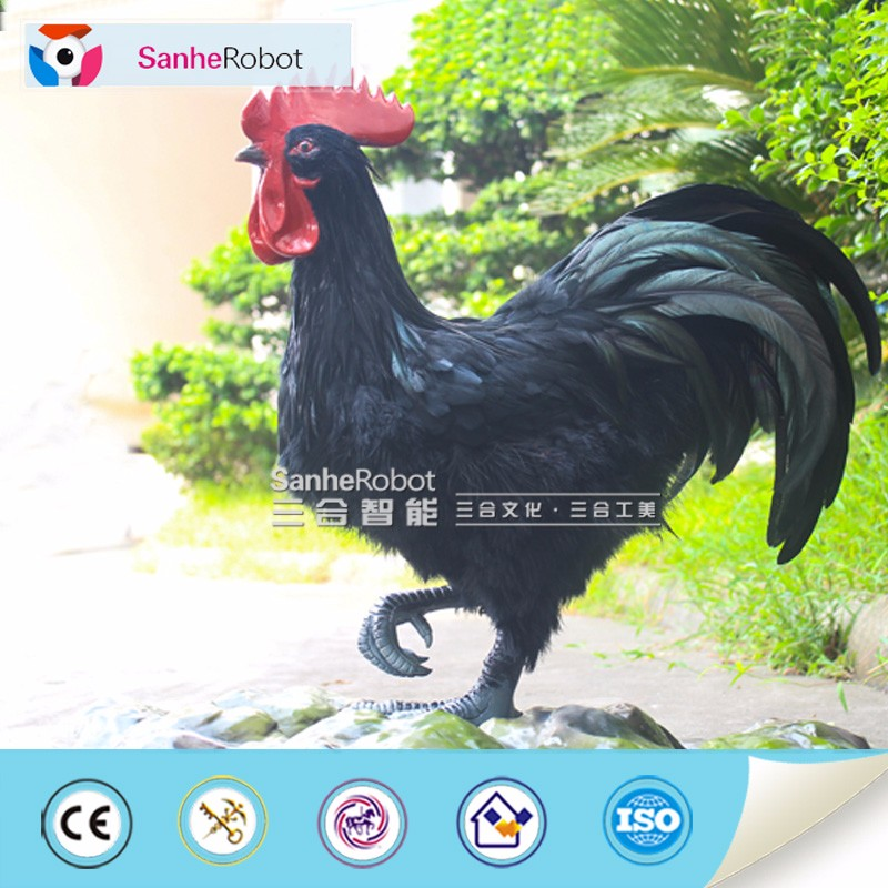 2017 Chinese Zodiac Lifelike and artificial life size waterproof fiberglass resin Rooster statue