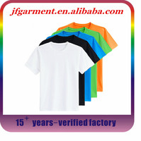 Promotional Top Quality Blank white bulk plain organic cotton t-shirts 100% cotton bulk t-shirts with no brand