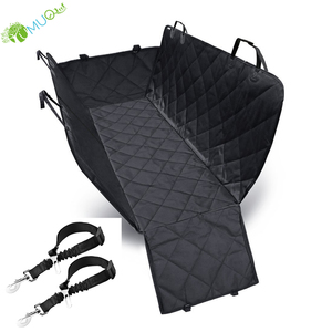 YumuQ 3 Layers Non Slip 100% Waterproof Pet Dog Car Seat Cover with Pet Dog Leash & Seat Belt